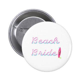 Jeune mariée de plage badges avec agrafe