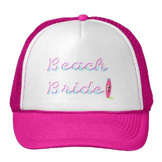 Jeune mariée de plage casquette
