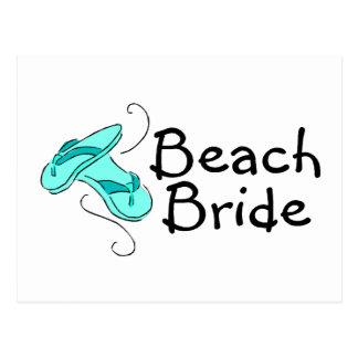 Jeune mariée de plage (mariage de plage) cartes postales