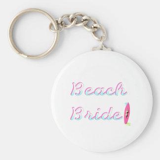 Jeune mariée de plage porte-clé