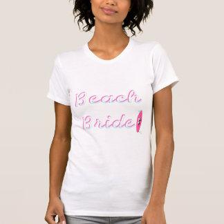 Jeune mariée de plage t-shirt