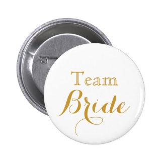 jeune mariée d'équipe de mariage d'or blanc badge