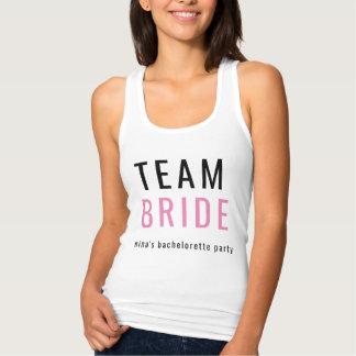 Jeune mariée d'équipe de T-shirt de Tanktop de