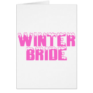 Jeune mariée d'hiver carte de vœux
