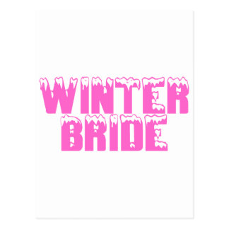 Jeune mariée d'hiver cartes postales
