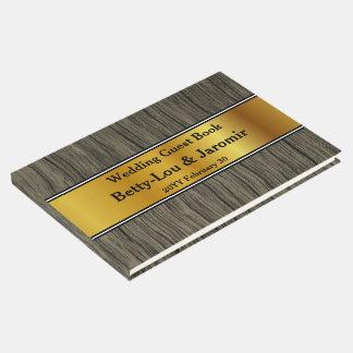 Jeune mariée élégante et simple/Guestbook de marié Livre D'or