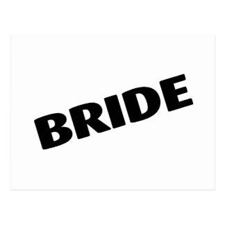 Jeune mariée épousant le noir carte postale