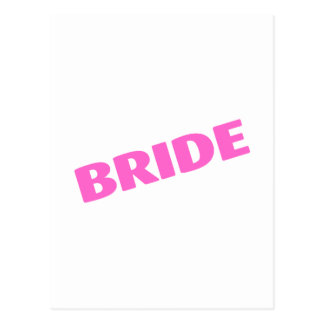 Jeune mariée épousant le rose carte postale