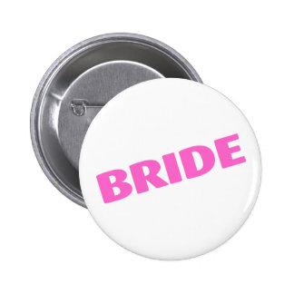 Jeune mariée épousant le rose pin's