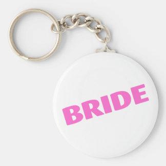 Jeune mariée épousant le rose porte-clés