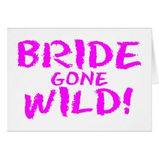 Jeune mariée folle ! cartes de vœux