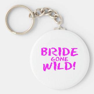 Jeune mariée folle porte-clés