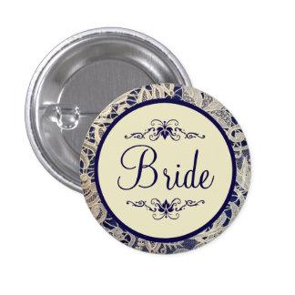 Jeune mariée formelle ene ivoire de mariage de badges