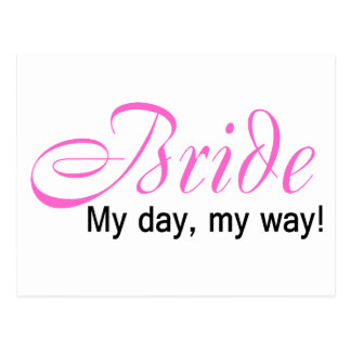 Jeune mariée (mon jour, ma manière !) carte postale