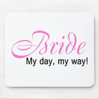 Jeune mariée mon jour ma manière tapis de souris