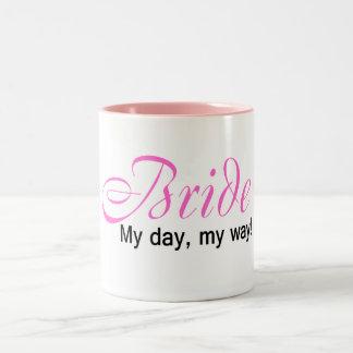 Jeune mariée (mon jour, ma manière !) tasse 2 couleurs