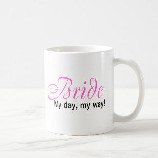 Jeune mariée mon jour ma manière tasse à café