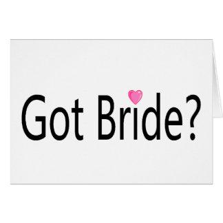Jeune mariée obtenue carte de vœux