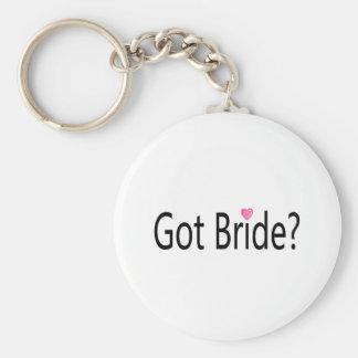 Jeune mariée obtenue porte-clé rond