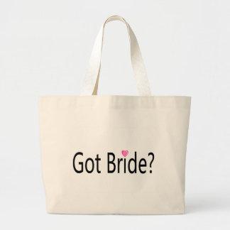 Jeune mariée obtenue sac fourre-tout