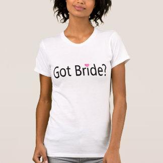 Jeune mariée obtenue t-shirt