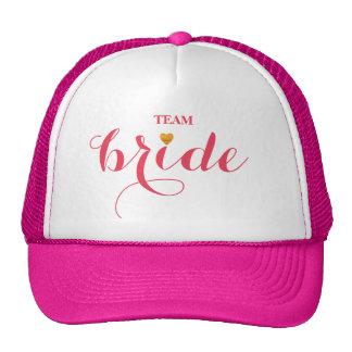 Jeune mariée personnalisée d'équipe de casquette de camionneur