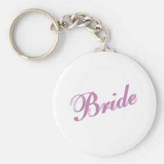 Jeune mariée porte-clé rond