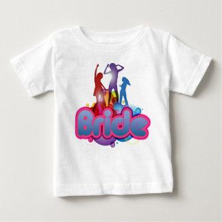 jeune mariée rose bleue de danse à être future Mme T-shirts
