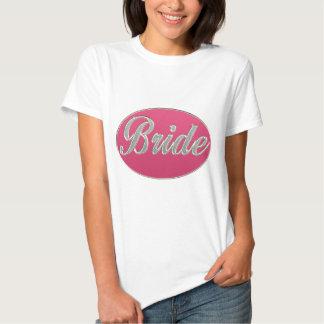 Jeune mariée rose de Bling T-shirts