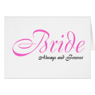 Jeune mariée toujours et pour toujours carte de vœux