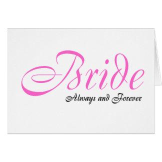Jeune mariée (toujours et pour toujours) carte de vœux