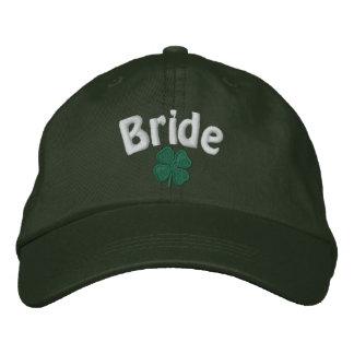 Jeune mariée - trèfle de quatre feuilles - casquette brodée