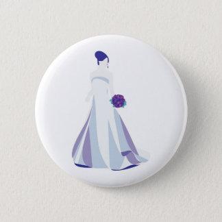 Jeune mariée violette de bouquet badges