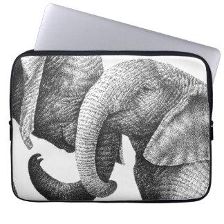 Jeune sac de l'électronique d'éléphants africains