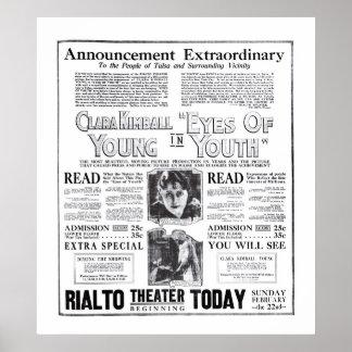Jeunes de Clara Kimball 1920 affiches vintages d'a