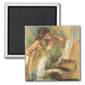 Jeunes filles au piano par Renoir, beaux-arts Magnet Carré
