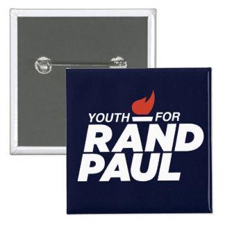 Jeunesse pour le bouton carré de campagne de Paul Pin's