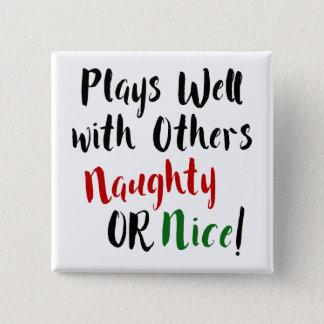 Jeux bien avec d'autres vilains OU Nice ! Noël Badge