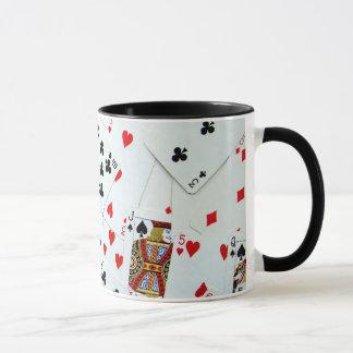 Jeux de carte de jeu mugs