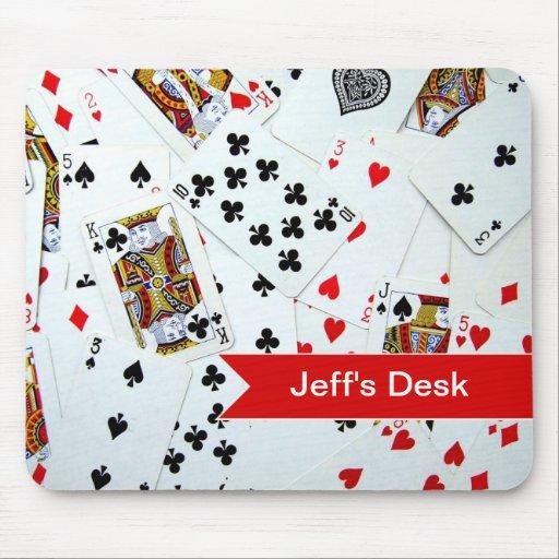 Jeux de carte de jeu tapis de souris zazzle Tapis de jeux de carte
