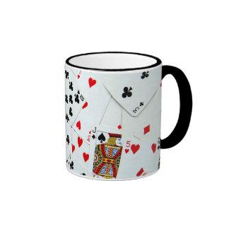Jeux de carte de jeu mug ringer