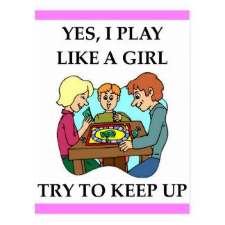 Jeux de société carte postale