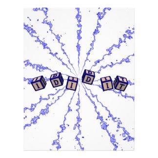 J'il ai joué des blocs dans le bleu prospectus en couleur