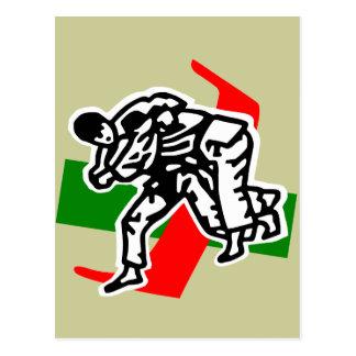 jitsu de ju de judo carte postale