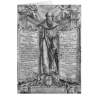 Joachim de Flora Carte De Vœux