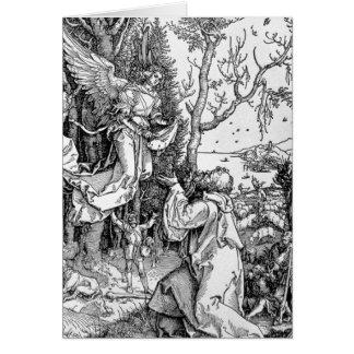 Joachim et l'ange carte de vœux