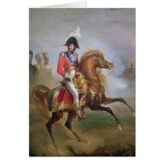 Joachim Murat à cheval, 1814-15 Carte De Vœux