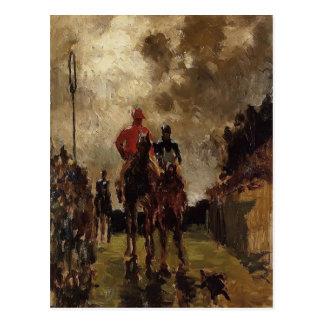 Jockeys de Henri De Toulouse-Lautrec Carte Postale