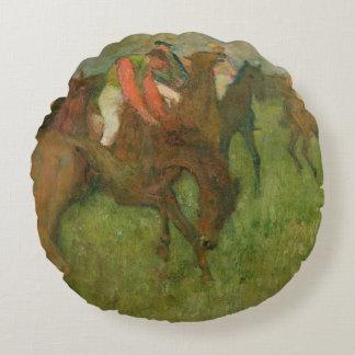 Jockeys d'Edgar Degas |, 1886-90 Coussins Ronds
