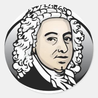 <b>Johann Sebastian Bach</b> Sticker Rond - johann_sebastian_bach_sticker_rond-r1db8176128d548f7bdd19f2df07f540a_v9waf_8byvr_324